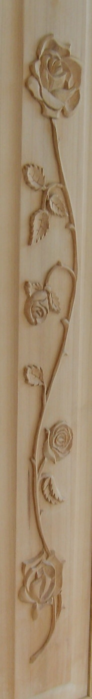 rose woodcarved